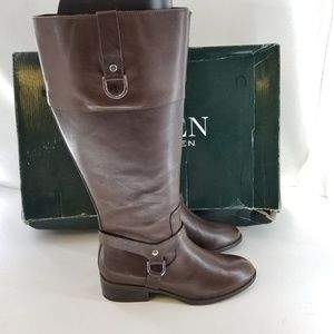 LAUREN RALPH LAUREN Brown Knee High Boots Sz 5 B